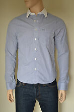 NEW Abercrombie & Fitch Adams Mountain Navy Blue Stripe Striped Shirt L RRP £88