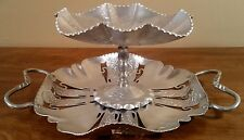 2 Piece Lot of Aluminum Serving Tray & Candy Dish