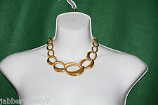 Vintage Napier Signed Necklace in Gold Tone Pat 4,774,743