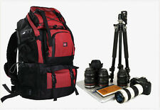 Professional  Waterproof 40L Outdoor Bag Backpack DSLR SLR Camera Bag Case Red