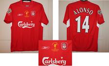 Liverpool Alonso Adulto Estambul 2005 Reebok Fútbol De Camisa Jersey Pequeño