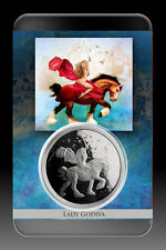 Lady Godiva 1 OZ .999 Silver Proof Steve Ferris Limited Art Slab COA Naked Horse