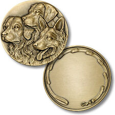 Dogs Challenge Coin K9 Canine Pet Lover Token Service Leash Engraveable Gift