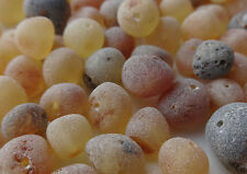 Raw Natural Baltic Amber Round Loose With Holes Beads 100pc