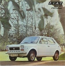 Fiat 127 903cc 2-dr & 3-dr 1975-76 Original UK Sales Brochure