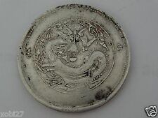 CHINA CHINESE  DRAGON SILVER COIN SINKIANG 5 MISCALS