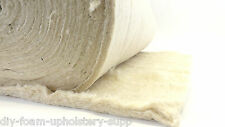 "27"" wide (68cm) 1 metre white cotton - wool  felt upholstery filling / wadding"