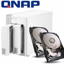 BUNDLE 6000GB FESTPLATTE + QNAP TS-231 NAS Server 1.2GHZ 512MB eSATA USB3.0  6TB