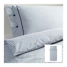 IKEA Blue Classic Ticking Stripe Cottage Duvet Quilt Cover 2pc TWIN Nyponros