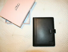 BNIB Agent Provocateur Matte Black Leather Folio Notebook RRP 235 Euro