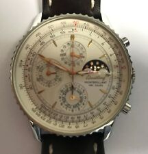 Breitling Montbrillant 1461 A19030 Auto 42mm Steel Mens Strap Watch Date Chrono
