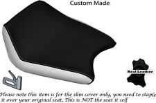 WHITE & BLACK CUSTOM FITS CAGIVA PRIMA 50 FRONT RIDER LEATHER SEAT COVER ONLY