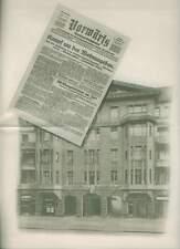 El folleto hacia adelante-Verlag GmbH Berlin 1928 periódico prensa trabajo Editorial RP