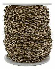 Cable Chain Spool - 30 Feet - Antique Bronze Color - 4x6mm Link - 10 Yd Rolo
