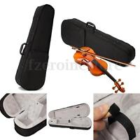 Black Cloth Fluff 4/4 Triangle Shape Hard Shell Violin Case Bag For Full Size