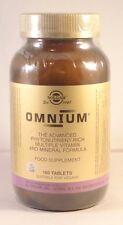 Solgar Omnium múltiples vitaminas y minerales Formula 180 Tabletas