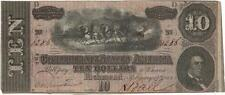 1864 $10 Confederate States of America Bank Note Lot 923