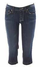 LOFLI Women's Potassium Blue DNA-80-CAP Distressed Capri Jeans Size 27L $160 NEW