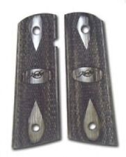 Factory Kimber 1911 Full Size Tactical Grips Black and Silver - 1100162