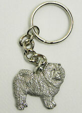 Chow Keychain Keyring Dog Harris Pewter Made in Usa Key Chain Ring