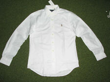 Mens $98. (M) POLO-RALPH LAUREN White STRETCH Oxford Shirt (Slim Fit)