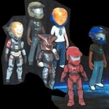HALO McFarlane Xbox 360 AVATAR mini figures SET of 6 in 1 LOT.  Series 2 TWO!