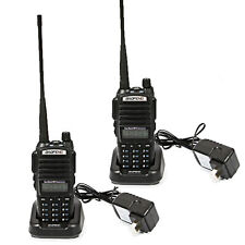 2 x Baofeng UV-82 VHF/UHF 136-174/400-520 MHz Ham 5W Two-way Radio Walkie Talkie