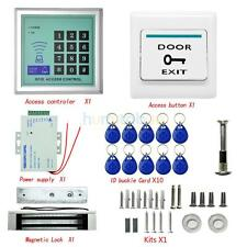 One Door Access Control Kit Electric Strike Lock with 125KHz RFID ID Keyfobs