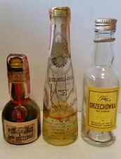 Vintage GRAND MARNIER, FIOR D'ALPE, and ORZECHOWKA Mini Liqueur, Liquor bottles