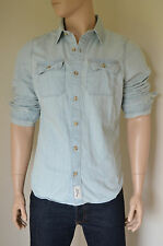 NEW Abercrombie & Fitch Bradley Pond Vintage Denim Light Wash Shirt XL RRP £78