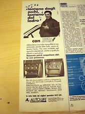PUBBLICITA' ADVERTISING WERBUNG 1990 AUTORADIO A SCOMPARSA AUTO LIFE (Q415)
