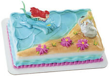 The Little Mermaid Ariel and Scuttle birthday cake kit topper