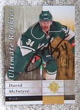 Minnesota Wild David McIntyre Signed 11/12 Ultimate Collection Rookies Card Auto