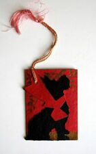 1930s Vintage Bridge Tally w/ Silhouette Dog Red