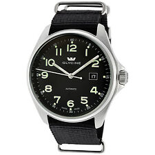 Glycine Men's 3890.19AT.TB9 Combat 6 Automatic Mineral Black Dial Black Strap