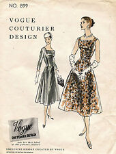 1950's VTG VOGUE Couturier Design Misses'  Dress Pattern 899 14