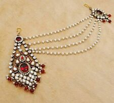 Bollywood Style Charming Indian Women Hair Accessory Goldtone Passa Jewelry