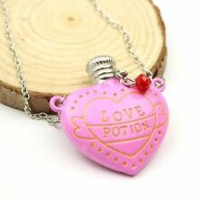 HARRY POTTER LOVE POTION HEART BOTTLE NECKLACE PINK UK