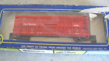 Vintage HO Scale AHM M Red Great Northern Cattle Car in Box  5275