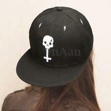 NEW Cool Fashion Skull Cross Adjustable Men Women Baseball Cap Snapback Flat Hat