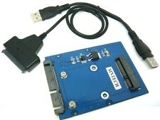 SINTECH mSATA 3x5cm to SATA Adapter for intel Samsung SSD with USB SATA cable