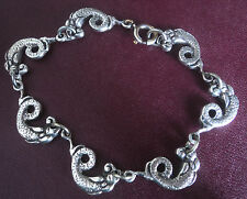 Scottish Sterling Silver Iona Sea Serpant Bracelet -  Hamish Dawson Bowman 1960s