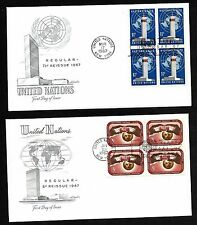 UN #166-67 1 1/2&5c  Issue of '67 Set of 2 Artmaster B4FDCs