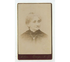 CDV STUDIO PORTRAIT LADY W/ EARRINGS FROM OSWEGO, NY, BY ALLEN