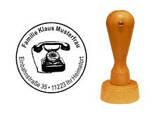 Stempel « nostalgie TELEFON 01 » Adressenstempel Motivstempel Antik Antiquariat