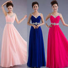 Wedding Long Formal Evening Bridesmaid Dress Ball Cocktail Party Prom Gown