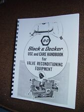 Black & Decker Valve Grinder Manual & Seat Refacer