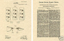 BELL TELEPHONE Patent Art Print  READY TO FRAME!! Alexander Graham phone BUY NOW