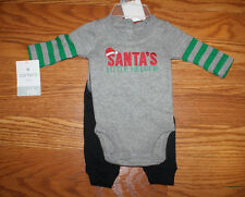 NWT CARTER'S BABY Santa's Little Helper Christmas 2 Piece Outfit 18 Months