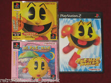 *Complete* PS1 PS2 MS. PAC-MAN MAZE MADNESS + PACMAN WORLD 20th ANNIVERSARY + 2